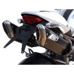 ZD115APR - Exhaust Mufflers Zard Penta Black Ducati Monster 696 / 769 / 1100