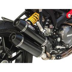 ZD118CSR - Silenciadores Escape Zard Overlapped Carbono Ducati Monster 1100 EVO