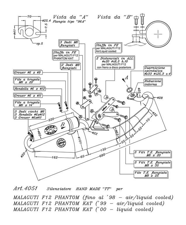 Schema Elettrico Phantom F12 : Auspufftoepfe leovince scoot hand made tt malaguti